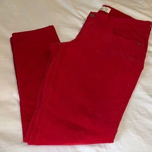 Old Navy High waisted rockstar ankle pants Red, 12